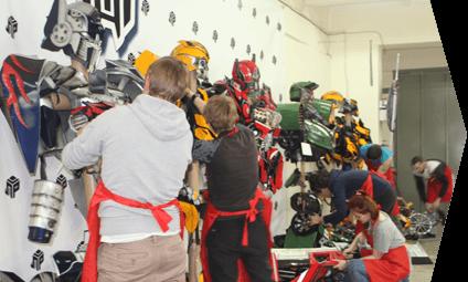 Сборка костюма робота