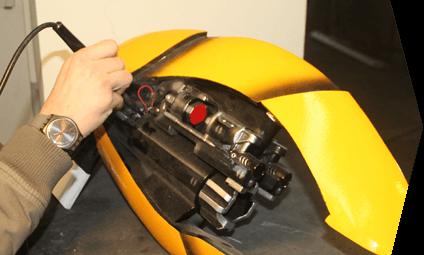 Подсоединение электроники в костюм робота